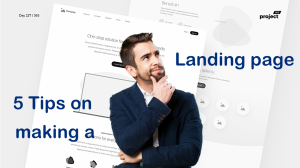 5 tips on creating a landing page